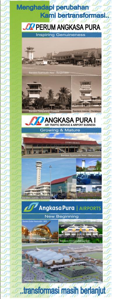 X-Banner sosialisasi restrukturisasi Angkasa Pura I
