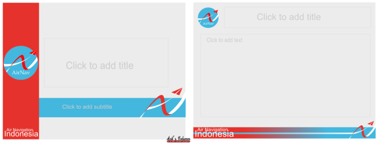 Powerpoint template AirNav Indonesia